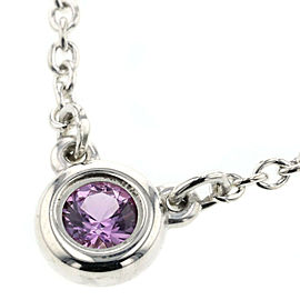 TIFFANY & Co Pink Sapphire Silver925 By The Yard Necklace TBRK-4