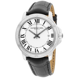 Raymond Weil Tango 5591-LS1-00300 Stainless Steel & Leather Quartz 39mm Mens Watch