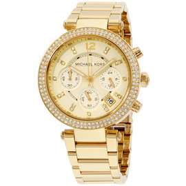 Michael Kors Parker MK5354 Gold Dial Gold Tone Stainless Steel Quartz 39mm Womens Watch