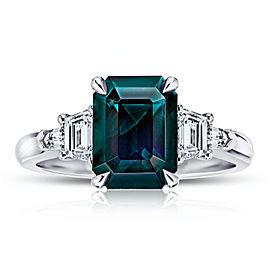 Platinum 3.82ct. Sapphire 0.68ctw. Diamond Ring Size 7