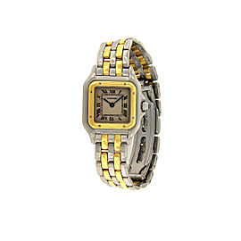 Cartier Panthere 166921 18K Yellow Gold & Stainless Steel 22mm Womens Watch