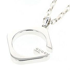 GUCCI G logo 233965 925 Silver Necklace TBRK-273