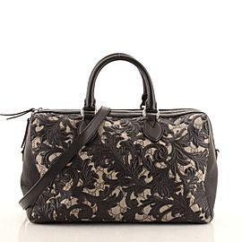 Gucci Convertible Boston Bag Arabesque GG Coated Canvas Medium