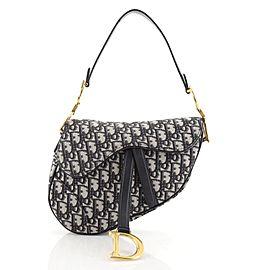 Christian Dior Saddle Handbag Oblique Canvas Medium