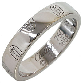 Cartier 18K White Gold Happy Birthday Wedding Band Ring US4.75