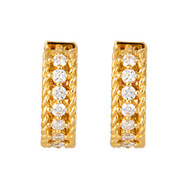Roberto Coin Symphony Princess 18K Yellow Gold 0.26ct Diamond Hoop Earrings