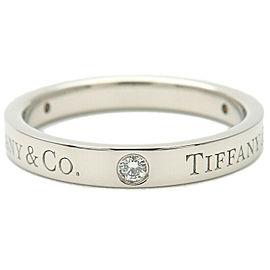 Tiffany & Co. Platinum 3P Diamond Flat Band Ring
