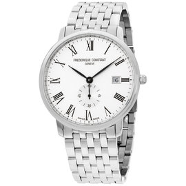 Frederique Constant Slimline FC245WR5S6B Stainless Steel & Silver Dial 39mm Mens Watch