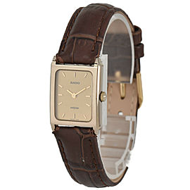 RADO DIA STAR 153.0396.3 Gold Plated/Leather Quartz Women's Watch