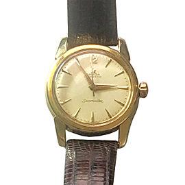 Omega Seamaster 18K Yellow Gold Automatic 34mm Mens Watch