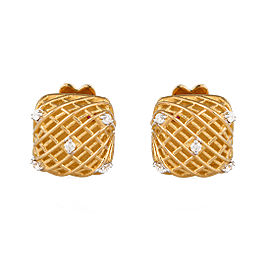 Roberto Coin Soie 18K Yellow Gold 0.07ct Diamond Earrings