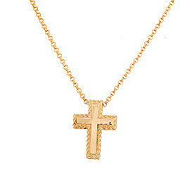 Roberto Coin 18K Yellow Gold Cross Necklace