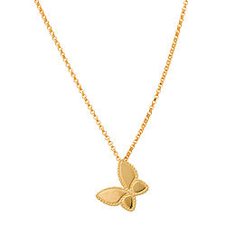 Roberto Coin 18K Yellow Gold 0.25ct Diamond Butterfly Necklace