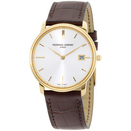 Frederique Constant Slimline FC-220NV4S5 Yellow Gold Plated Stainless Steel 37mm Mens Watch