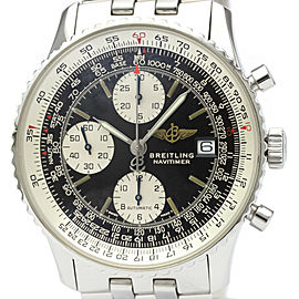 Polished BREITLING Old Navitimer Steel Automatic Mens Watch A13022