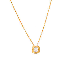 Roberto Coin Pois Moi 18K Yellow Gold 0.10ctw Diamond Pendant Necklace