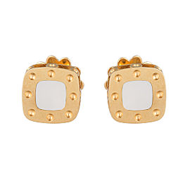 Roberto Coin Pois Moi 18K Yellow Gold Mother Of Pearl Earrings