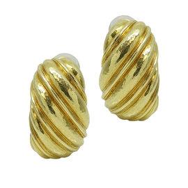 David Webb 18K Yellow Gold Earrings