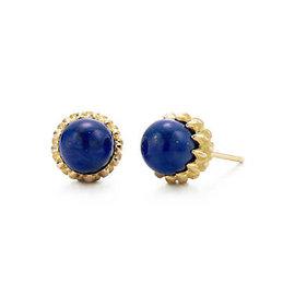 Tiffany & Co. 18K Yellow Gold with Lapis Lazuli Schlumberger Acorn Earrings