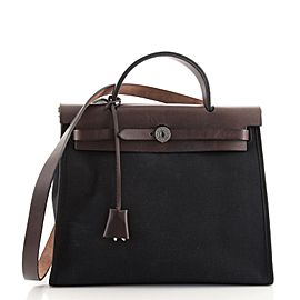 Hermes Herbag Zip Leather and Toile 31