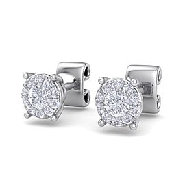 GLAM ® Halo stud earrings in 18K gold with white diamonds of 0.23 ct in weight