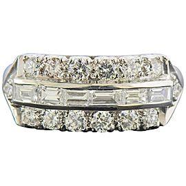 Midcentury Platinum Diamond Ring