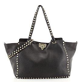 Valentino Rockstud Tote Pebbled Leather Medium