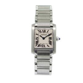 Cartier Tank Francaise W51008Q3 Stainless Steel Quartz 20mm Womens Watch