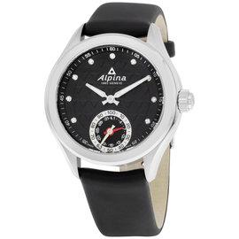 Alpina Alpiner AL285STD3C6 Black Dial Black Leather Strap 39mm Womens Watch