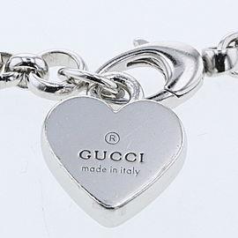 GUCCI 925 Silver Heart plate bracelet