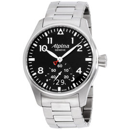 Alpina Startimer Pilot AL280B4S6B Black Dial Stainless Steel 44mm Mens Watch