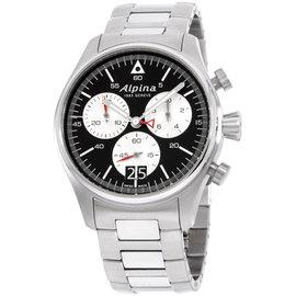 Alpina Startimer AL372BS4S6B Stainless Steel Quartz 44mm Mens Watch