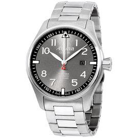 Alpina Sartimer Pilot AL525GB4S6 Grey Dial Stainless Steel 44mm Mens Watch