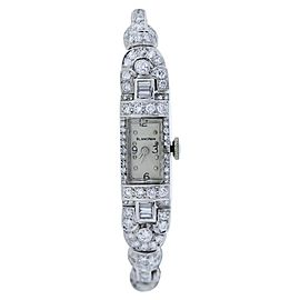 Blancpain 14k White Gold Platinum Diamond Ladies Watch