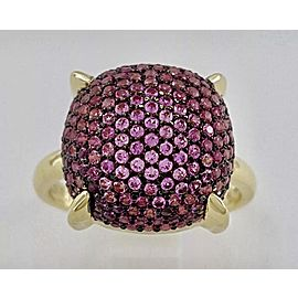 Tiffany & Co. Paloma Picasso Sugar Stacks 18K Yellow Gold Pink Sapphire Large Ring Size 5