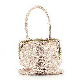 Bottega Veneta Frame Handle Bag Python Small