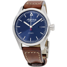 Alpina Startimer Pilot AL525N4S6 Stainless Steel & Leather Automatic 44mm Mens Watch