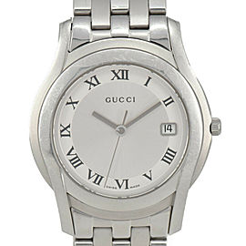 GUCCI 5500M Silver Dial SS Quartz Men's Watch