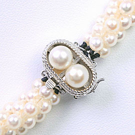 TASAKI 14k white gold/Pearl Necklace