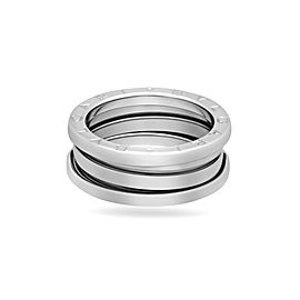Bulgari 18K White Gold B.Zero1 Ring Size 6