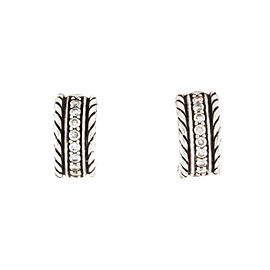 David Yurman Cable Classics Extra Small Earrings with Diamonds