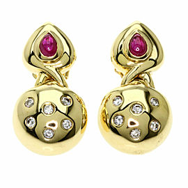 Ponte Vecchio 18K Yellow Gold Diamond earring