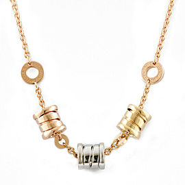 BVLGARI 18K Pink Yellow and White Gold B-zero. Necklace