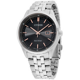 Citizen Sapphire BM725153H Stainless Steel Gray Dial 41mm Men's Watch