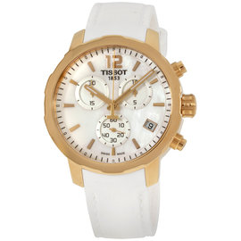 Tissot Quickster T0954173711700 Rose Gold Tone Stainless Steel & Silicone Quartz 42mm Mens Watch