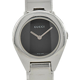 GUCCI 6700L Black Dial SS Quartz Ladies Watch