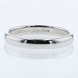 TIFFANY & Co. Classic band 950 Platinum Ring TBRK-575
