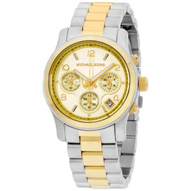 Michael Kors Runway MK5137 Two-Tone Gold & Silver Chronograph 38mm Womens Watch