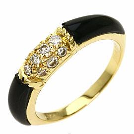 Van Cleef & Arpels 18K Yellow Gold Philippines Onyx Diamond Ring