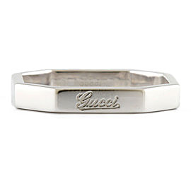GUCCI 18K white gold Octagonal Ring